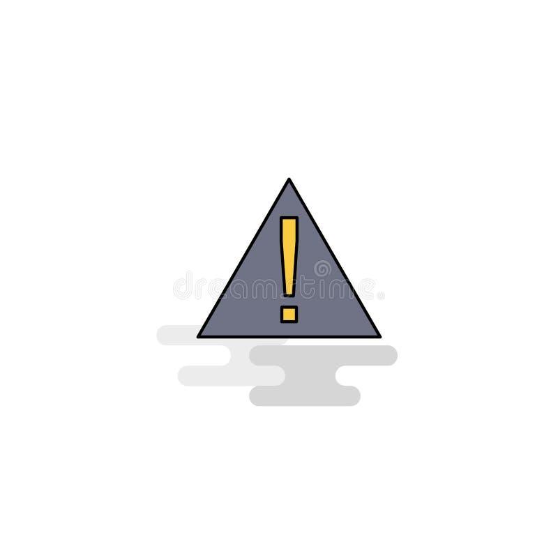 Плоский значок ошибки вектор иллюстрация штока