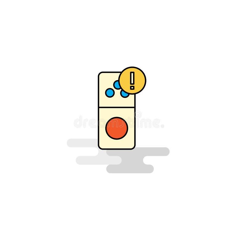 Плоский значок ошибки интернета вектор иллюстрация вектора