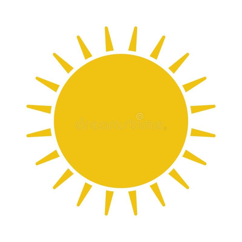 Плоский значок Солнця Пиктограмма Солнца иллюстрация вектора шаблона бесплатная иллюстрация