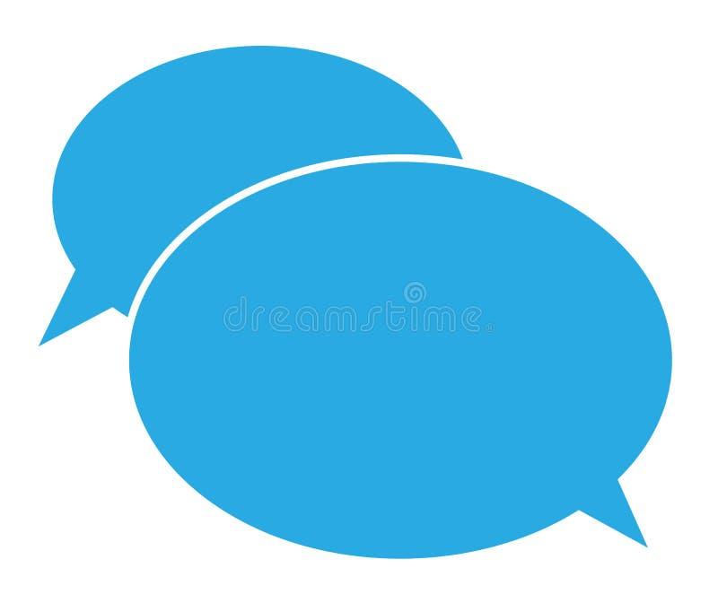 Плоский значок сообщения значок болтовни на белой предпосылке иллюстрация штока