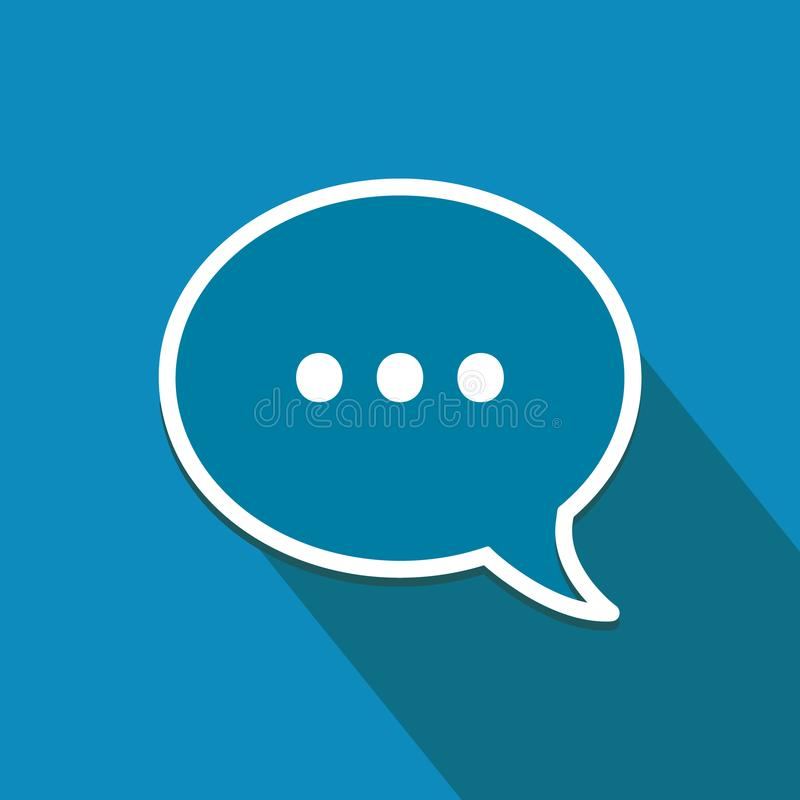 Плоский значок с пузырем речи Онлайн сообщения и символ сети бесплатная иллюстрация