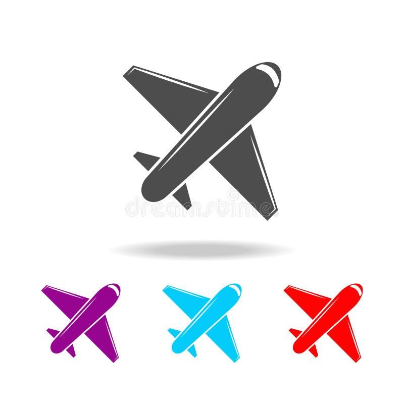 Плоский значок Элементы перемещения в multi покрашенных значках Наградной качественный значок графического дизайна Простой значок иллюстрация вектора