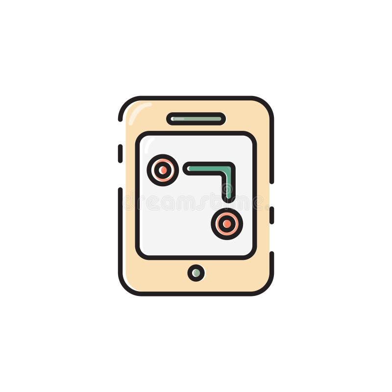 Плоский значок gps-прибора цвета иллюстрация штока