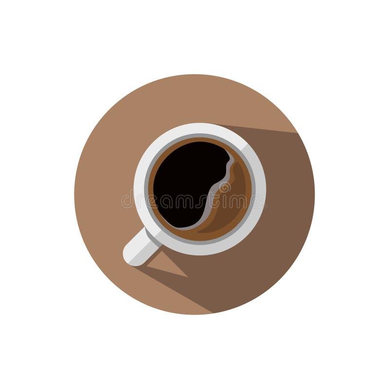 Плоский кофе дизайна иллюстрация вектора