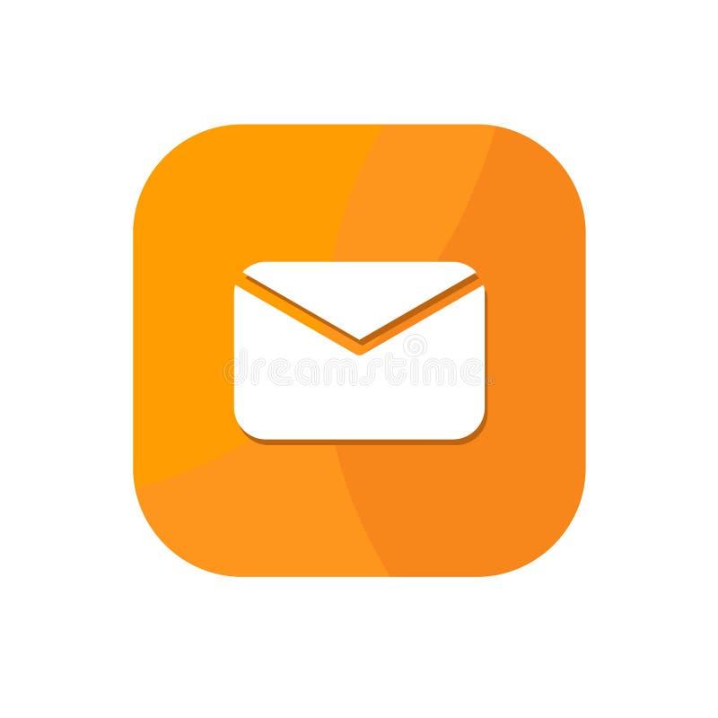 Плоский минималистский значок App электронной почты иллюстрация штока