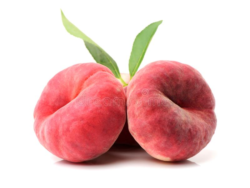 плоский персик стоковое фото