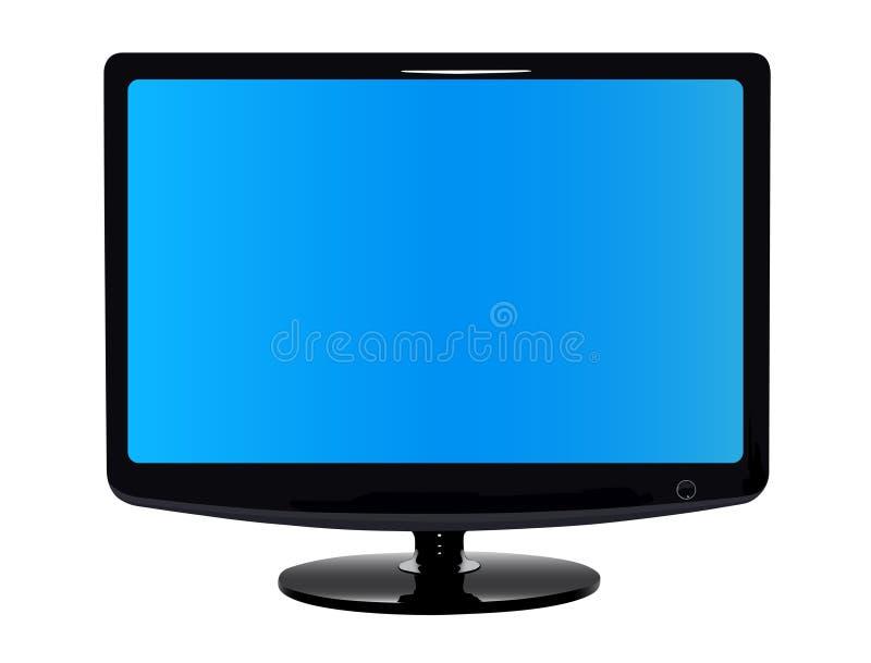 плоский самомоднейший tv иллюстрация вектора