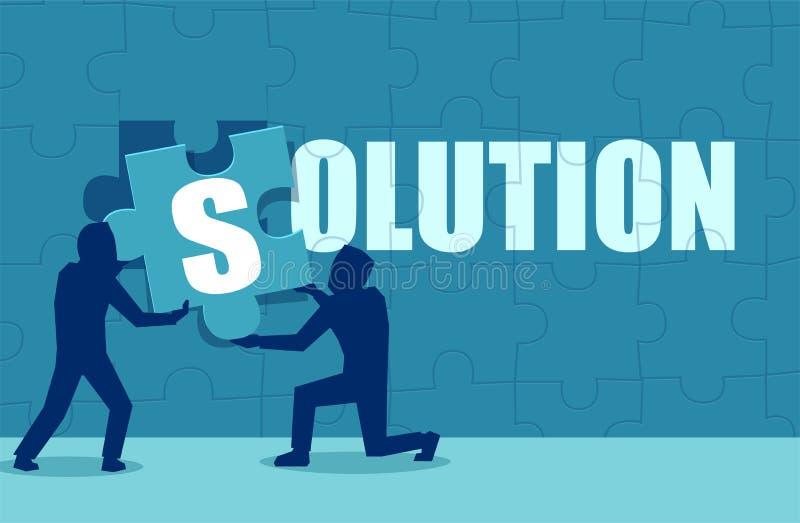 Плоский стиль бизнесменов находя решение бесплатная иллюстрация