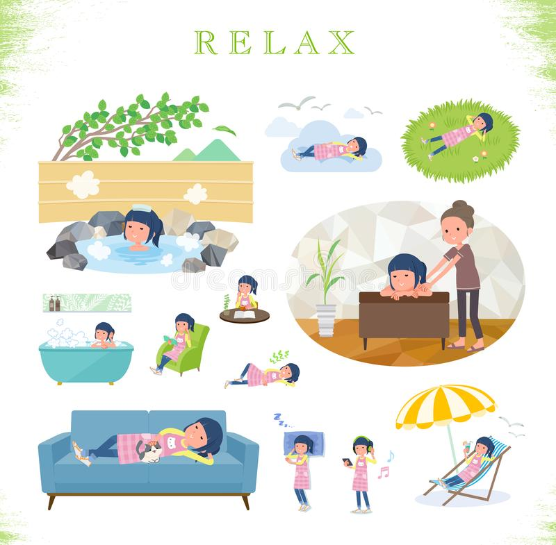 Плоский тип women_relax Childminder бесплатная иллюстрация