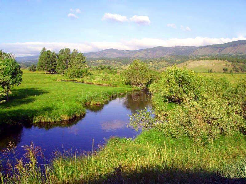 плоское река стоковые фотографии rf