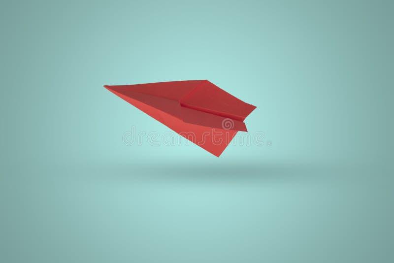 Плоскость бумаги в цвете стоковое изображение