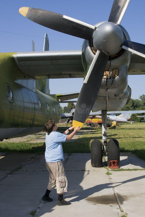 плоскость airscrew огромная стоковая фотография rf