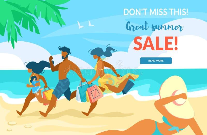 Плоско плакат госпож это, большая продажа лета бесплатная иллюстрация