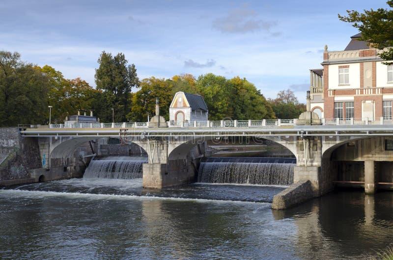 Плотина на реке Elbe стоковое фото