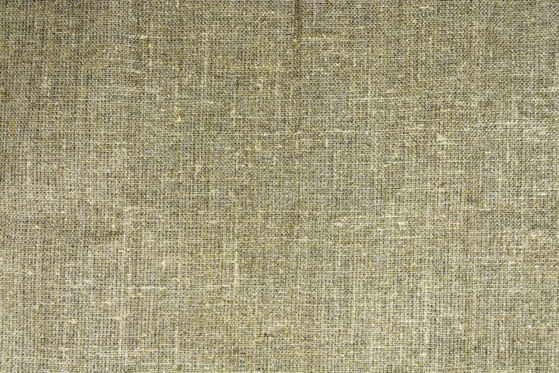 Плотная текстура старой мешковины, ткани сделанной изо льна стоковое изображение rf
