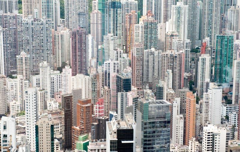 плотно заселенное Hong Kong стоковые фотографии rf