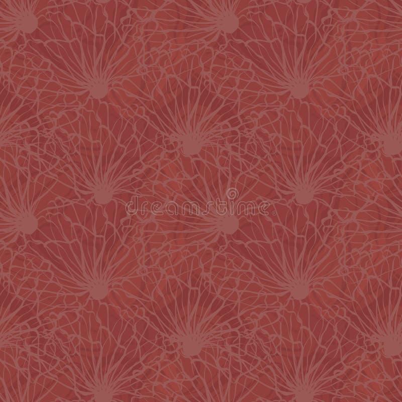 Плотно текстурированный дизайн Линия цветки руки вычерченная искусст иллюстрация вектора