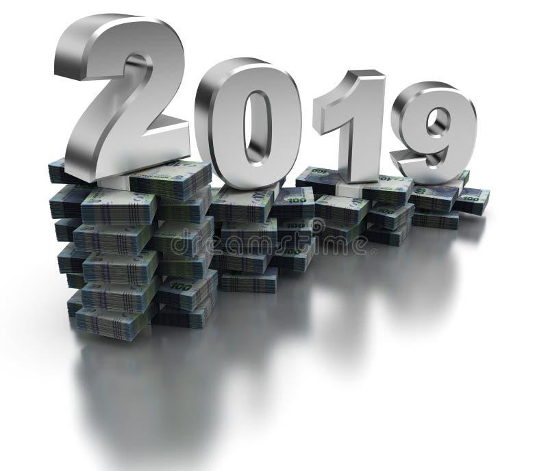 Плохая экономика 2019 Южной Африки иллюстрация вектора