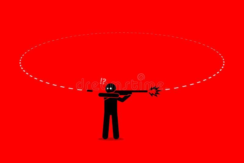 Плохие кармы человека иллюстрация вектора