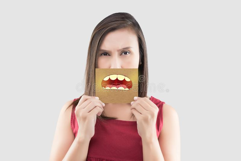 Плохое дыхание или галитоз стоковая фотография