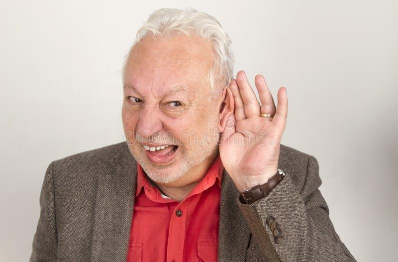 Плохой старший слуха стоковые фото