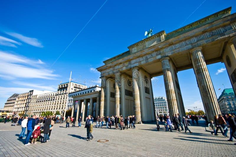 Площадь Бранденбургских ворот, Берлин стоковые изображения