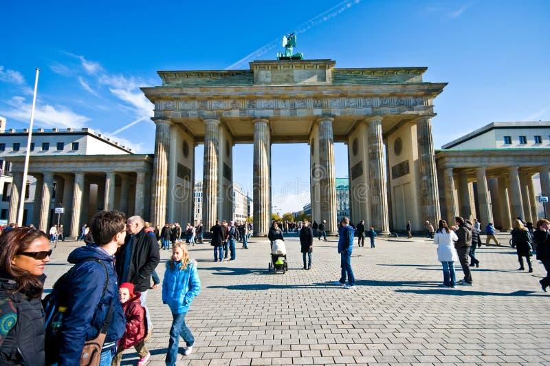 Площадь Бранденбургских ворот, Берлин стоковая фотография
