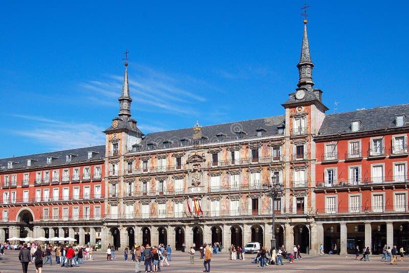 площадь мэра madrid стоковое изображение