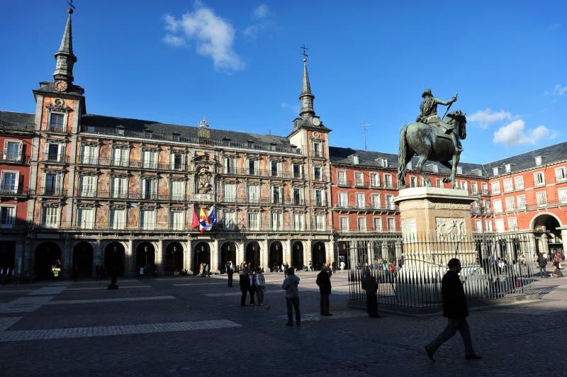 площадь мэра madrid стоковые фото