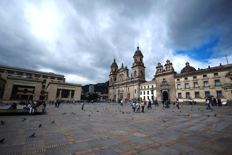площадь bolivar bogota стоковые фото