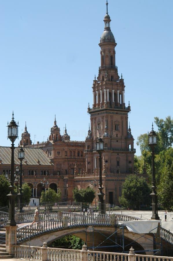 площадь d espana стоковая фотография rf