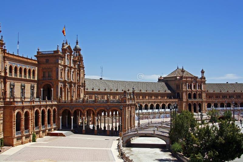Площадь de Espana, Севил стоковое фото