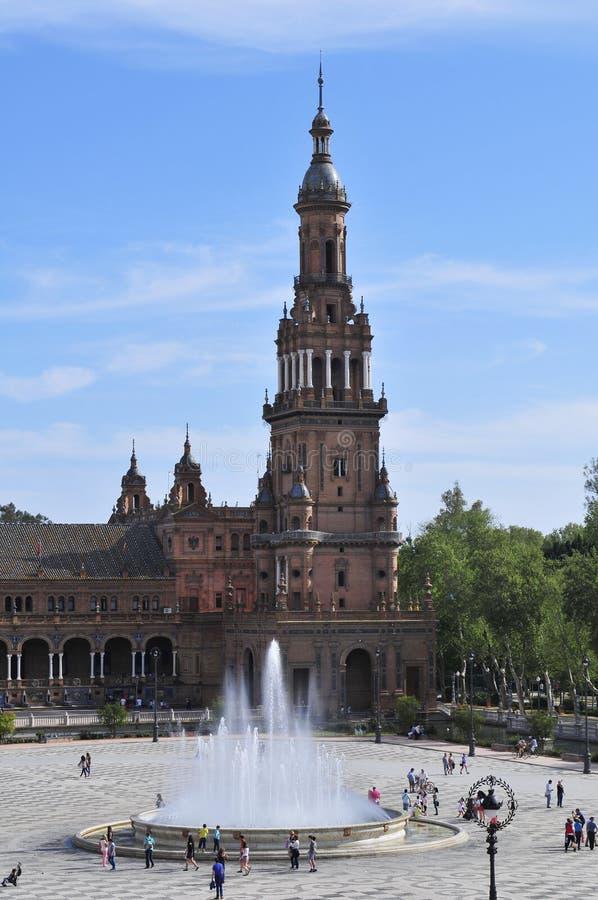 Площадь de Espana, Parque de MarÃa Luisa, Севилья - Испания стоковое фото rf