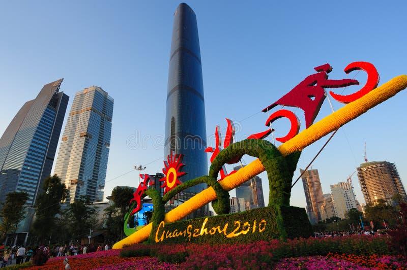 площадь guangzhou 2010 азиатская игр цветка города стоковые фото