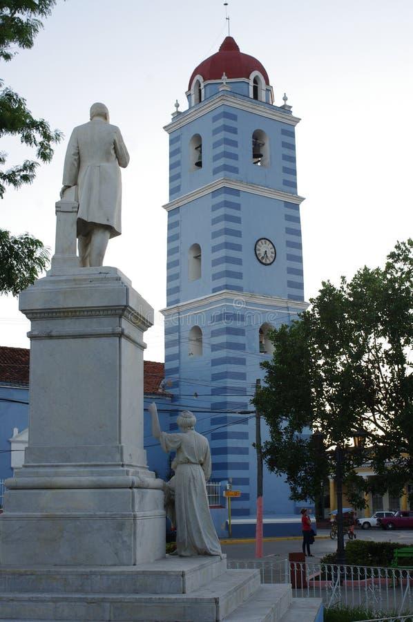 Площадь Honorato в Sancti Spiritus, Кубе стоковая фотография rf