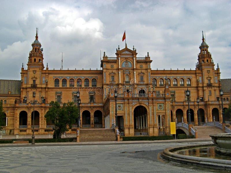 площадь sevilla 08 de espana стоковые изображения