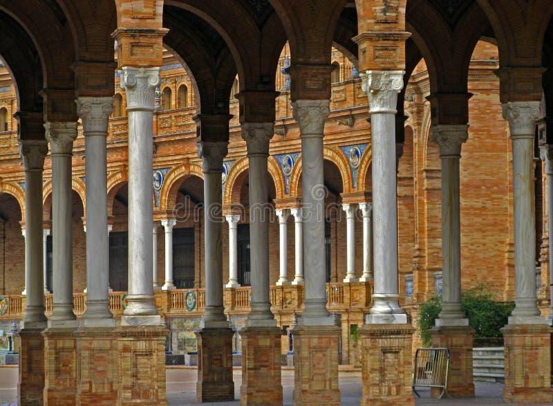 площадь sevilla 09 de espana стоковое изображение rf