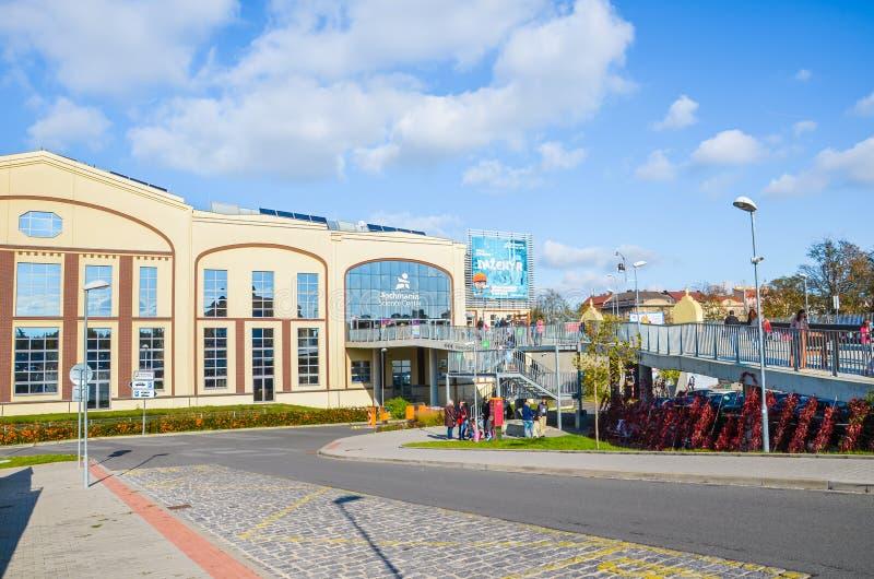 Пльцен, Чешская Республика - 28 октября 2019 г.: Главное здание Научно-технического центра в Пилсене, Чехия Организована выставка стоковые изображения