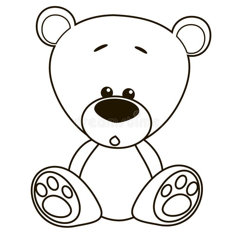 Плюшевый медвежонок шаржа иллюстрация штока