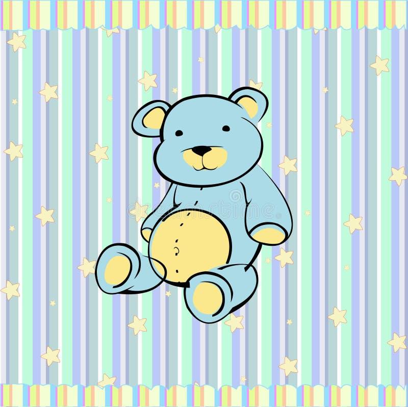 Плюшевый медвежонок иллюстрация вектора