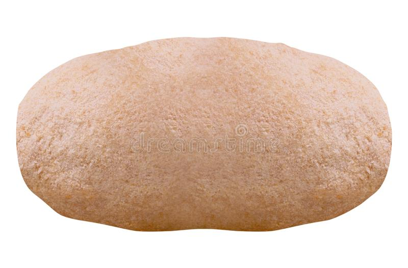 Плюшка floured изолированный на белизне стоковая фотография