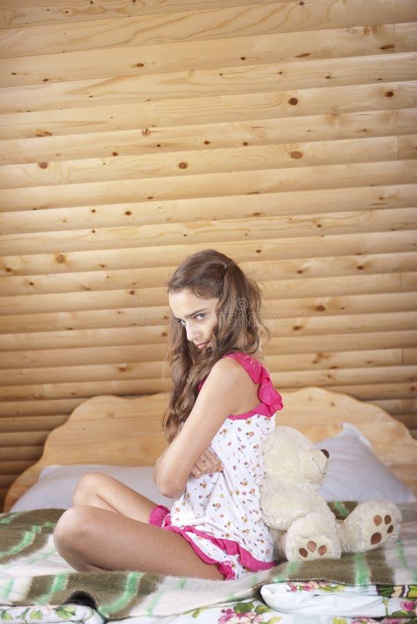 плюш девушки медведя подростковый стоковое фото