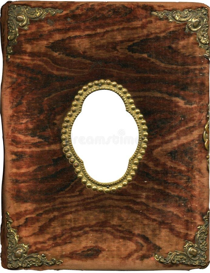 плюш крышки Antique альбома Стоковое Фото