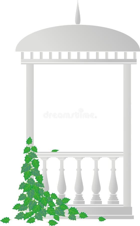 плющ беседки rotunda иллюстрация вектора