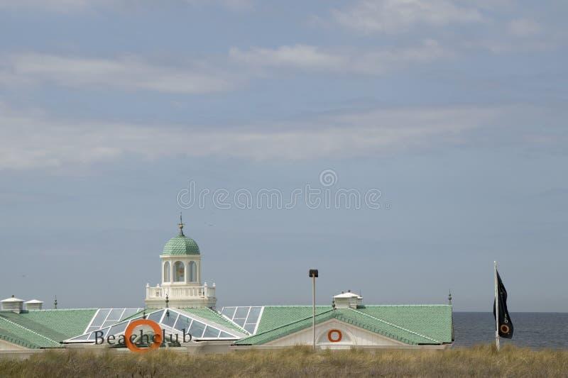 Пляжный домик на пляже стоковое изображение rf