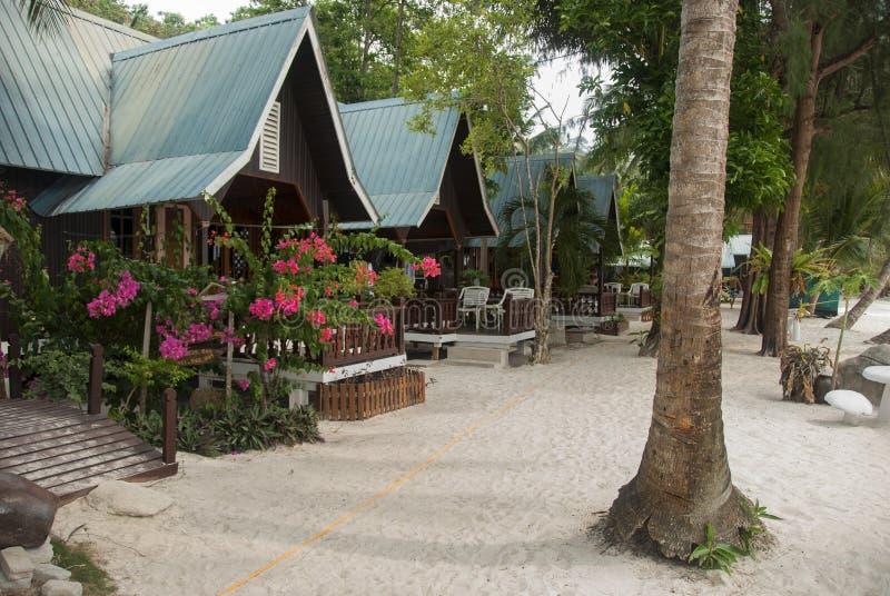 Пляжный домик на perhentian острове стоковое фото