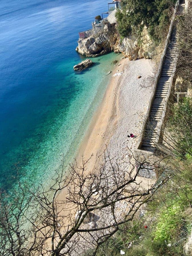 Пляж адриатического моря стоковое фото rf