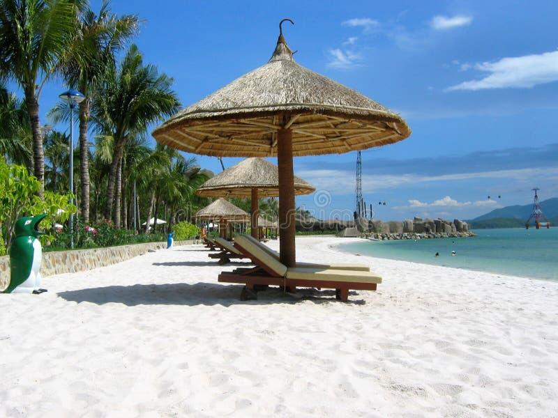 Пляж аквапарк, Nha-Trang, Вьетнам стоковое фото rf