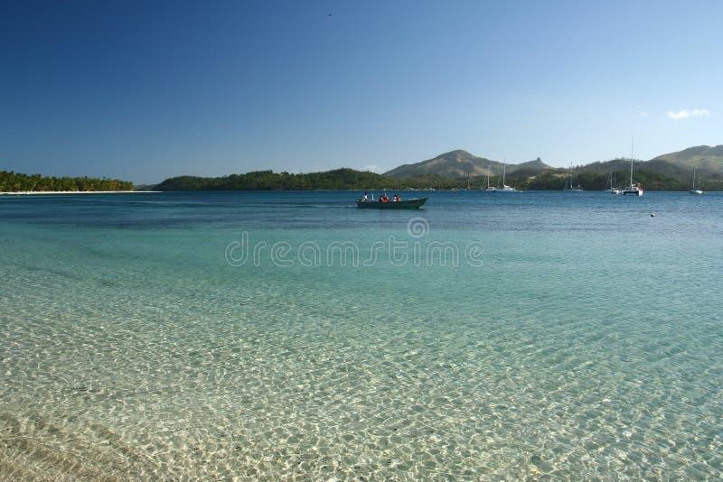 Пляж алебастра в Фиджи стоковое фото rf