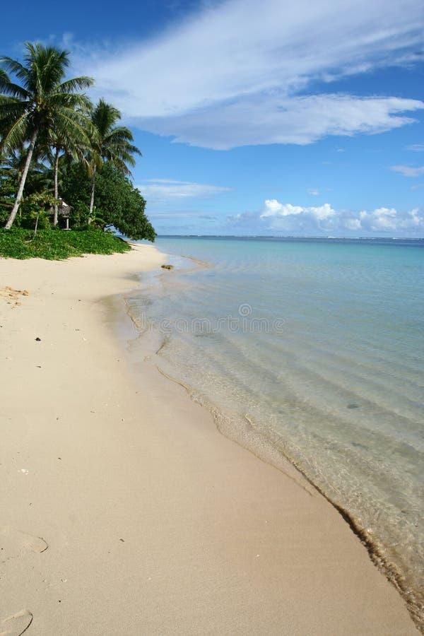 Пляж алебастра в South Pacific стоковая фотография